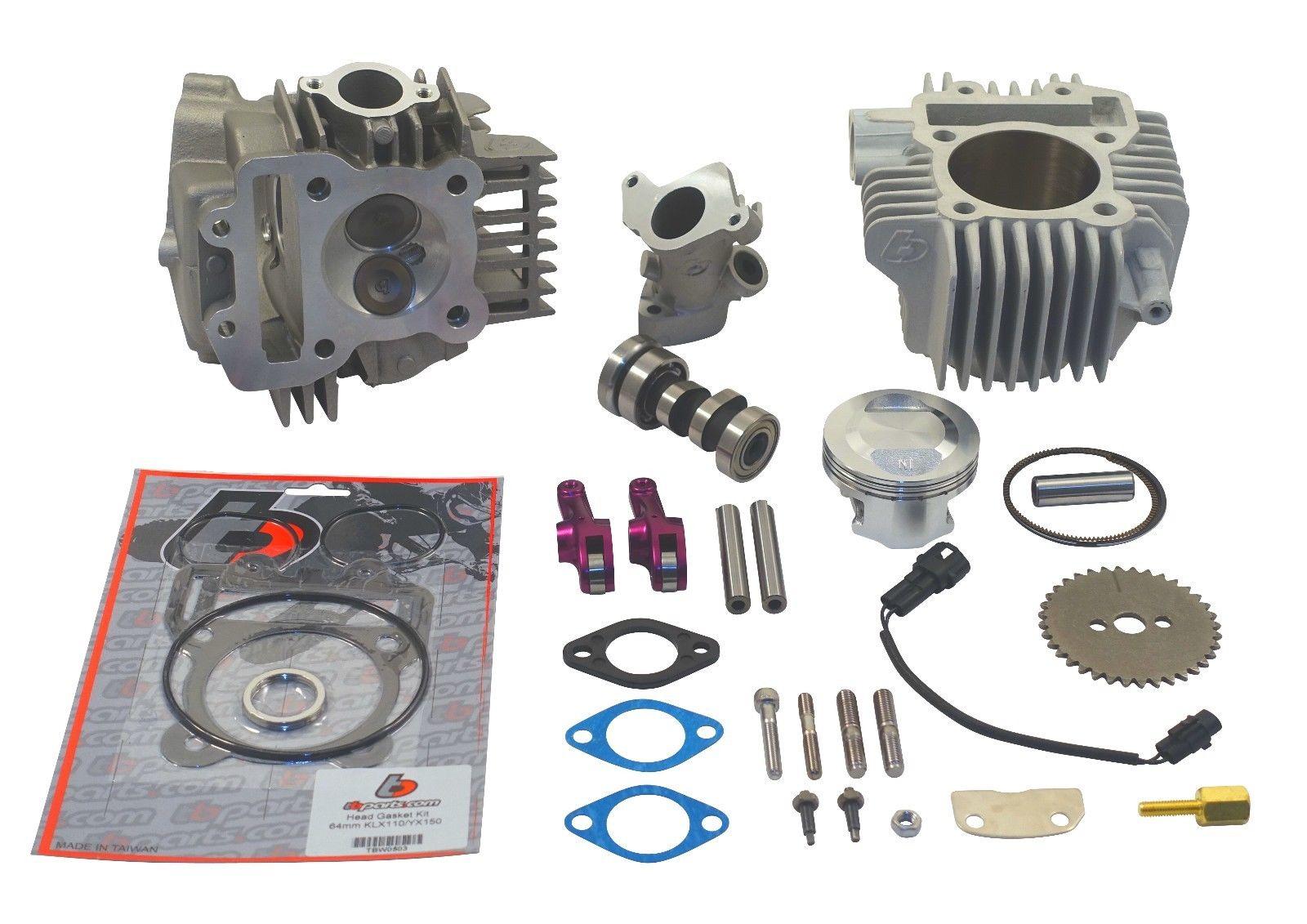 Kawasaki Z125 Pro 143CC Big Bore Kit V2 Race Head, Manifold & Decompression  Kit